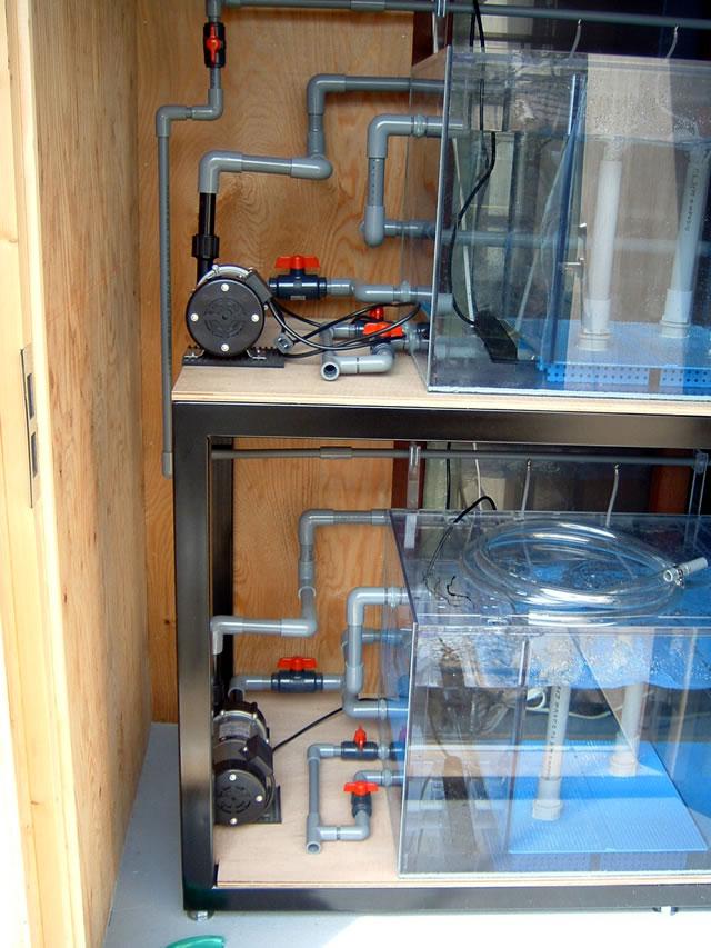 二段式サイドオーバーフロー水槽W1800×D900×H600