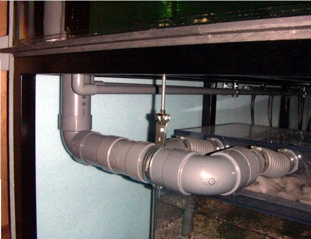 オーバーフロー水槽の設置