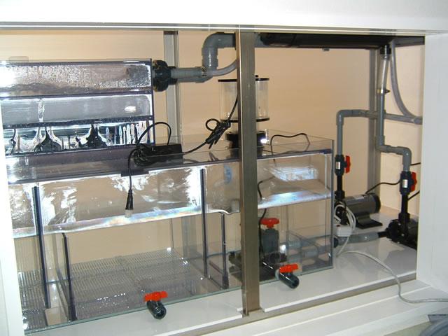 アクリル水槽/W1800海水魚用オーバーフロー水槽